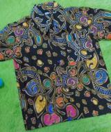 baju batik bayi anak laki-laki kemeja batik batita hem anak cowok uk 1-3th baju pesta motif ceplok kembangan hijau