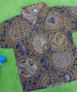 baju batik bayi anak laki-laki kemeja batik batita hem anak cowok uk 1-3th baju pesta motif jaring klasik