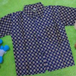 baju batik bayi anak laki-laki kemeja batik batita hem anak cowok uk 1-3th baju pesta motif kembang ceplok