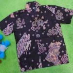 baju batik bayi anak laki-laki kemeja batik batita hem anak cowok uk 1-3th baju pesta motif parang suluran