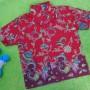baju batik bayi anak laki-laki kemeja batik batita hem anak cowok uk 1-3th baju pesta motif vas merah