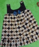 dress baju batik bayi anak perempuan cewek 0-12bulan pita depan motif kawung ceplok 25 LD 32, P 50