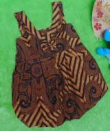 dress baju pesta batik balon yukensi anak bayi perempuan 0-9bulan motif geometri sulur