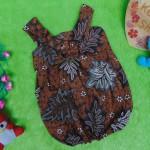 dress baju pesta batik balon yukensi anak bayi perempuan 0-9bulan motif paku-pakuan klasik