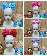 foto Utama Bando Minnie Mouse Bludru All Size Anak-Dewasa Polka Love Ungu copy