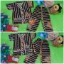foto utama Setelan Baju Tidur Piyama Batik Bayi Celana Panjang size O 0-12bln motif Bambu Hitam RANDOM (2)