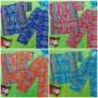 foto utama Setelan Baju Tidur Piyama Batik Bayi Celana Panjang size O 0-12bln motif Etnik Klasik (2)