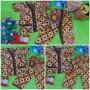 foto utama Setelan Baju Tidur Piyama Batik Bayi Celana Panjang size O 0-12bln motif KAWUNG COKELAT RANDOM (2)
