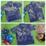foto utama baju batik bayi anak laki-laki kemeja batik batita hem anak cowok uk 1-3th baju pesta motif batik tempo doloe