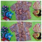 foto utama baju batik bayi anak laki-laki kemeja batik batita hem anak cowok uk 1-3th baju pesta motif taman kembang modern