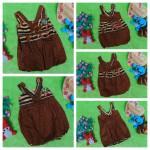 foto utama dress baju pesta batik balon yukensi anak bayi perempuan 0-9bulan motif biji kopi kombinasi