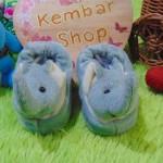kado bayi baby gift set sepatu prewalker alas kaki newborn 0-6bulan lembut motif gajah abu