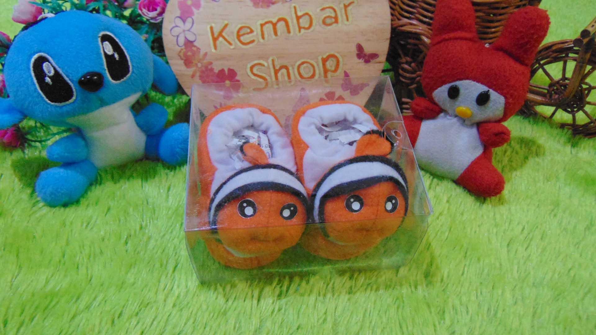 kado bayi baby gift set sepatu prewalker alas kaki newborn 0-6bulan lembut motif Nemo