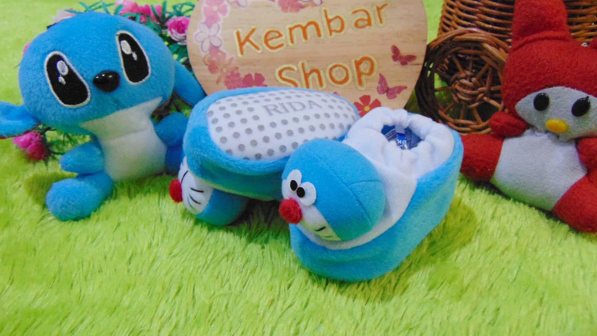 kado bayi baby gift set sepatu prewalker alas kaki newborn 0-6bulan lembut motif doraemon2
