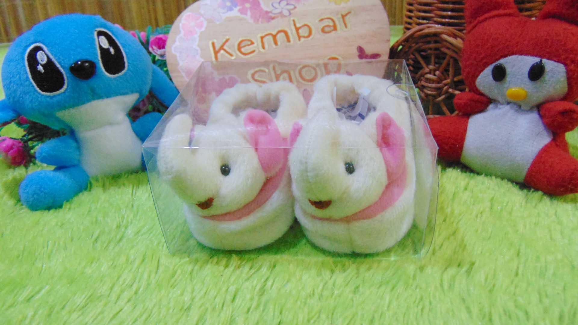 kado bayi baby gift set sepatu prewalker alas kaki newborn 0-6bulan lembut motif gajah cantik