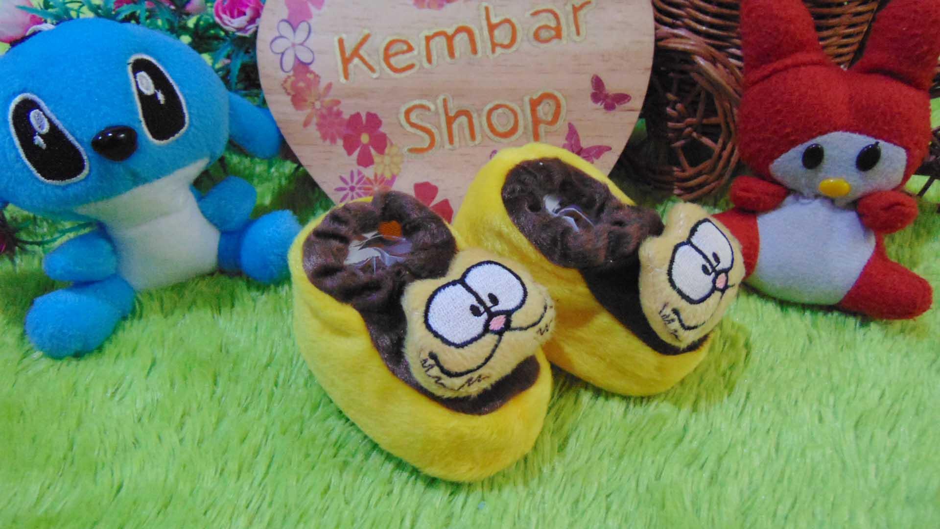 kado bayi baby gift set sepatu prewalker alas kaki newborn 0-6bulan lembut motif kucing garfield1