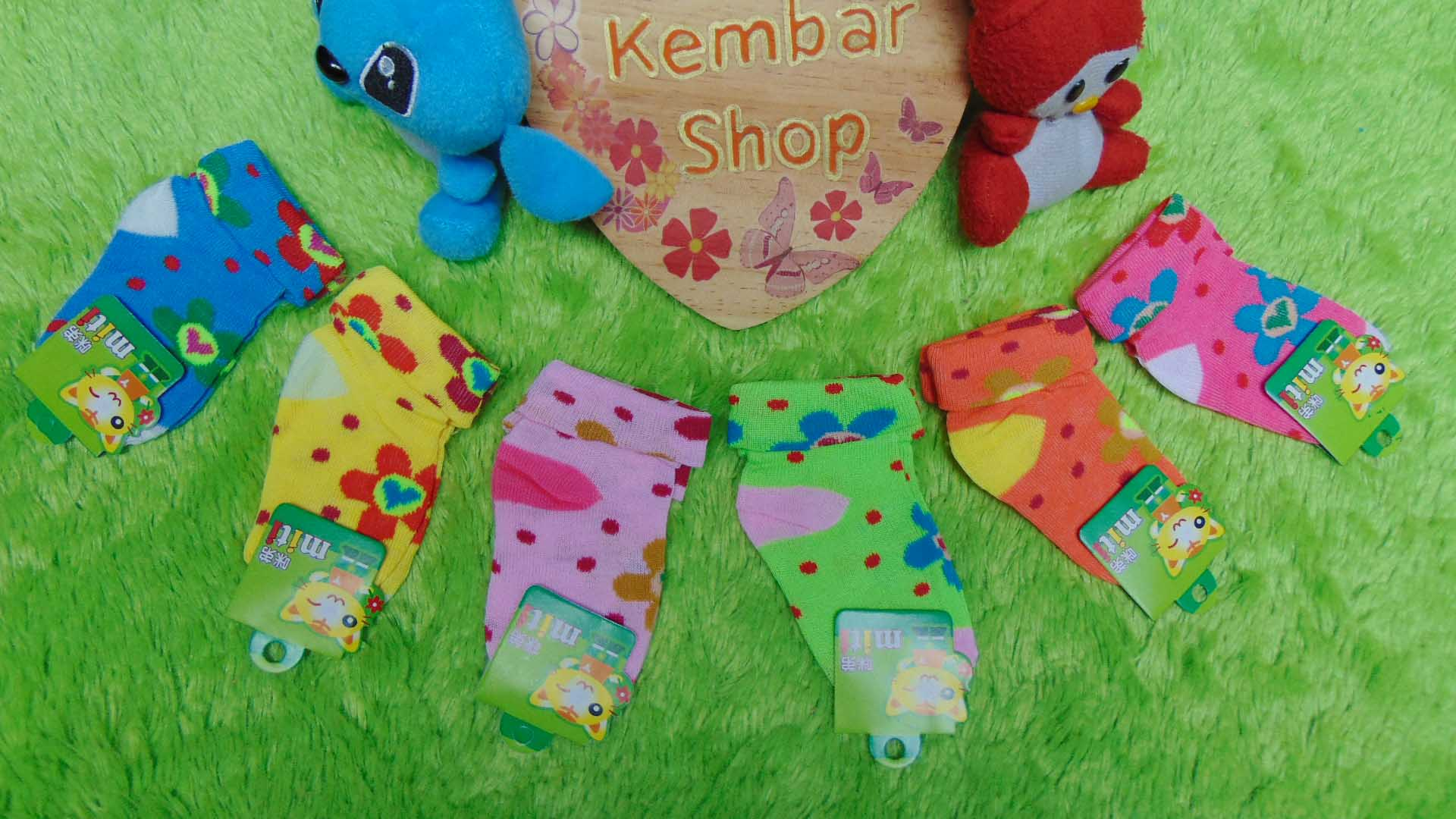 BELI 1 GRATIS 1 Kaos Kaki Anak bayi 0-12bulan motif Love Bunga Warna Random Acak