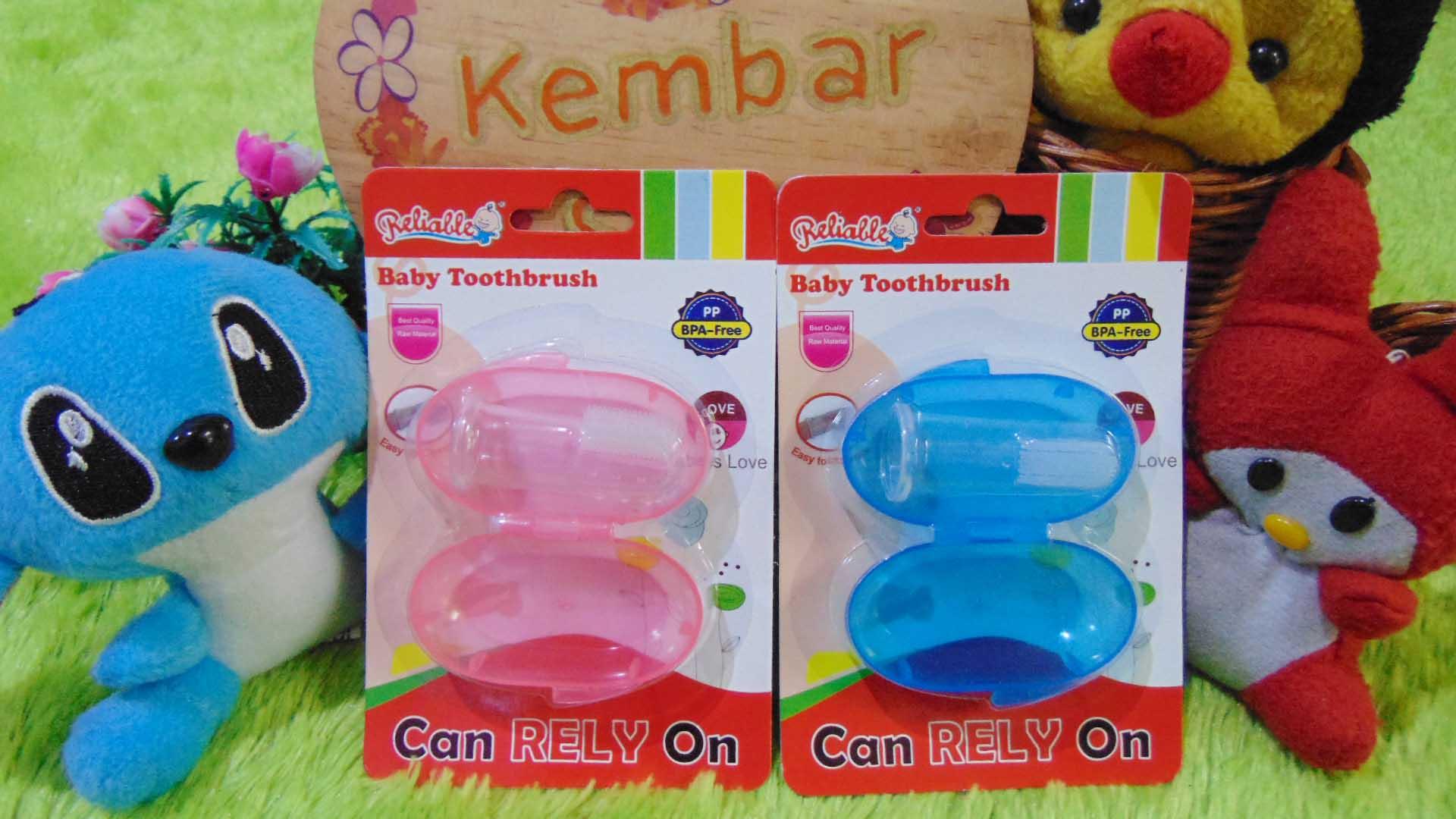 Baby Toothbrush Sikat Gigi dan Lidah bayi Dengan wadah
