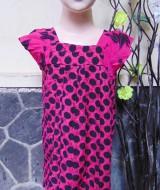 Daster Yukensi Anak Dress baju santai batita perempuan cewek 2-3th adem motif polka abtsrak