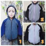 Foto Utama TERMURAH jaket basket hoodie jumper anak bayi PAUD TK 3-5th tebal lembut Abu