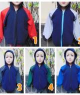 Foto Utama TERMURAH jaket basket hoodie jumper anak bayi PAUD TK 3-5th tebal lembut navy