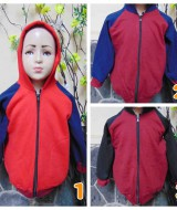 Foto utama TERMURAH jaket basket hoodie jumper anak bayi PAUD TK 3-5th tebal lembut Merah dan Maroon