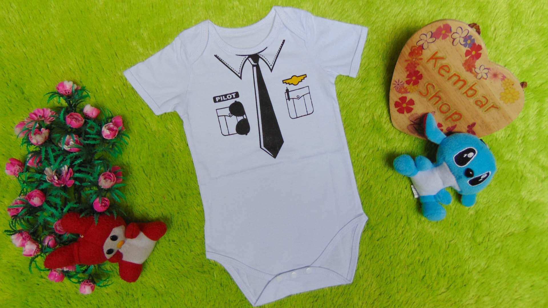 Jumper bayi anak cowok laki-laki newborn 0-9bulan karakter Profesi Pilot