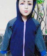 TERMURAH jaket basket hoodie jumper anak bayi PAUD 2-4tahun Navy tebal lembut