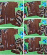 foto Utama Setelan Baju Tidur Piyama Batik Anak Batita size XL 3-4th motif Biji Kopi RANDOM