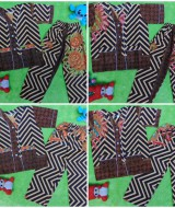 foto utama Setelan Baju Tidur Piyama Batik Bayi Celana Panjang size s 6-18bln motif Zigzag kembang RANDOM 4
