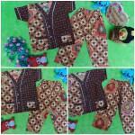Setelan Baju Tidur Piyama Batik Bayi Celana Panjang size s 6-18bln motif kawung kembang RANDOM