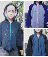 foto utama TERMURAH jaket basket hoodie jumper anak bayi 5-7th Abu tebal lembut