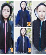 foto utama TERMURAH jaket basket hoodie jumper anak bayi 5-7th Hitam tebal lembut