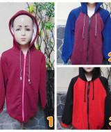 foto utama TERMURAH jaket basket hoodie jumper anak bayi 5-7th Maroon tebal lembut