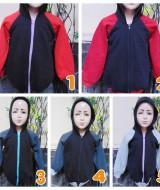 foto utama TERMURAH jaket basket hoodie jumper anak bayi PAUD 2-4tahun ABU tebal lembut