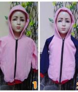 foto utama TERMURAH jaket basket hoodie jumper anak bayi PAUD 2-4tahun PINK tebal lembut