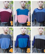 foto utama TERMURAH sweater anak bayi 6-18bln tebal lembut Aneka Motif Dwi Warna A