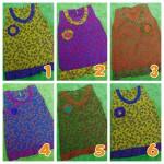 dress baju batik bayi kembang ceplok benik 0-6bulan aneka warna