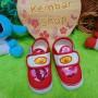 foto utama kado bayi sepatu prewalker anak bayi cowok laki-laki newborn 0-12bulan Army Doreng Tentara rekat Merah