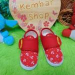 kado bayi sepatu prewalker anak bayi cowok laki-laki newborn 0-12bulan Jangkar Pelaut merah