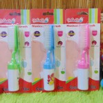 set 2 in 1 sisir bayi persegi krincing lembut Rattle Musical Hair Brush Reliable