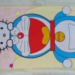 handuk mandi karakter karakter JUMBO SUPER BESAR motif Doraemon and Hello Kitty