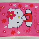 handuk mandi karakter karakter JUMBO SUPER BESAR motif Hello Kitty Butterfly and Flower