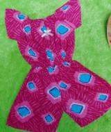 jumpsuit batik bayi 6-18bulan motif celup biru pink