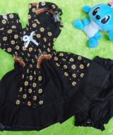 setelan baju batik bayi 0-12bulan kerut dada motif bunga ceplok