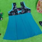 Dress Baju Anak Bayi Cewek Perempuan 0-12bulan Alisa Rose tosca