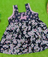 Dress Baju Anak Bayi Cewek Perempuan 0-12bulan Alisa sakura navy, 22 bahan katun adem lembut,bikin dedek tambah cantik, lebar dada 27cm, panjang 41cm