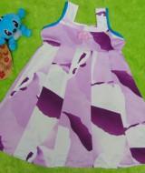 Dress Baju Anak Bayi Cewek Perempuan 1-2th Alisa abstrak ungu 25, bahan satin adem lembut,bikin dedek tambah cantik, lebar dada 31cm, panjang 59cm