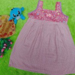 Dress Baju Anak Bayi Cewek Perempuan 1-2th Alisa taman bunga polka 25, bahan santung adem lembut,bikin dedek tambah cantik, lebar dada 32cm, panjang 58cm