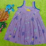 Dress Baju Anak Bayi Cewek Perempuan 1-2th Alisa tanaman ungu 25, bahan santung adem lembut,bikin dedek tambah cantik, lebar dada 32cm, panjang 59cm